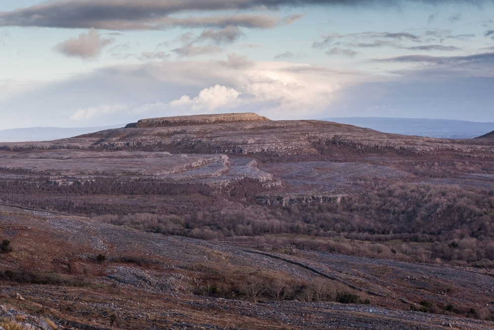 The karst limestone landscape of the Burren in County Clare, Ireland