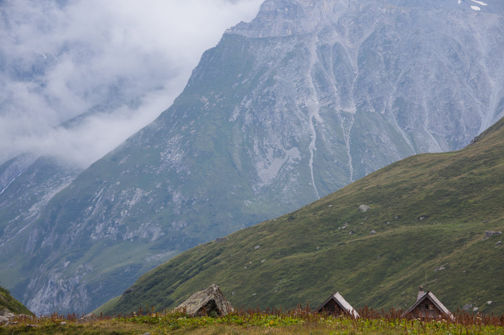 The rooftops of the refuge de Plaisance where visitors to the Vanoise National Park can find accomodation and food. In order to protect the delicate ecosystem of the park, It is illegal to camp.