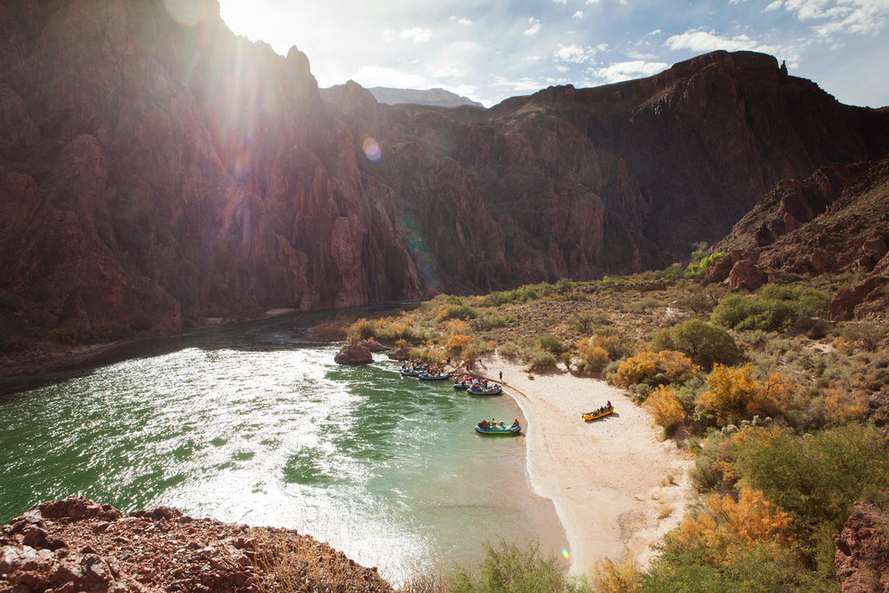 Boat Beach at Bright Angel in Grand Canyon National Park.