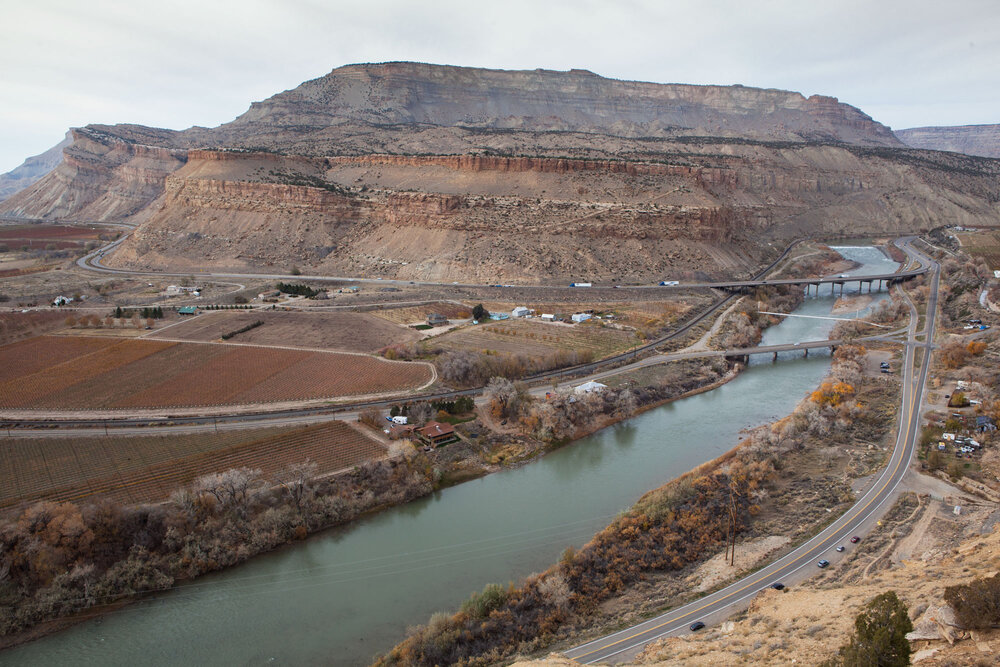 The Colorado provides water for peach orchards and vineyards in the desert surrounding the town of Palisade, Colorado. Agriculture uses almost 80% of the river's water.