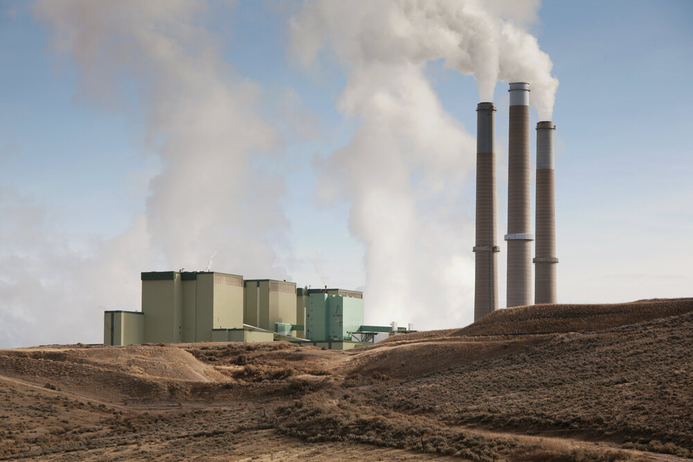 The 1283 megawatt coal power plant in the Upper Colorado basin town of Craig. More than 60% of Colorado's electricity is generated by coal using massive amounts of freshwater for cooling, creating more water stress in an already fragile water supply and river basin.
