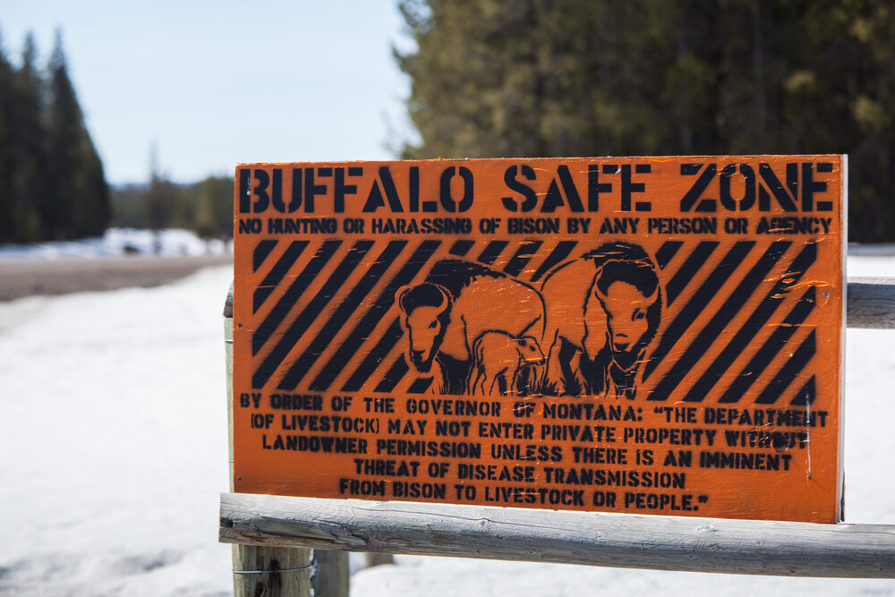 Sign on private property in West Yellowstone, Montana.
