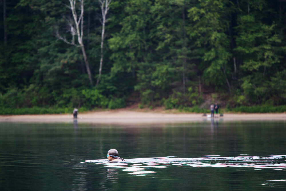 Swimming is hugely popular at Walden as it's one of the very few options for open water swimming in the area.