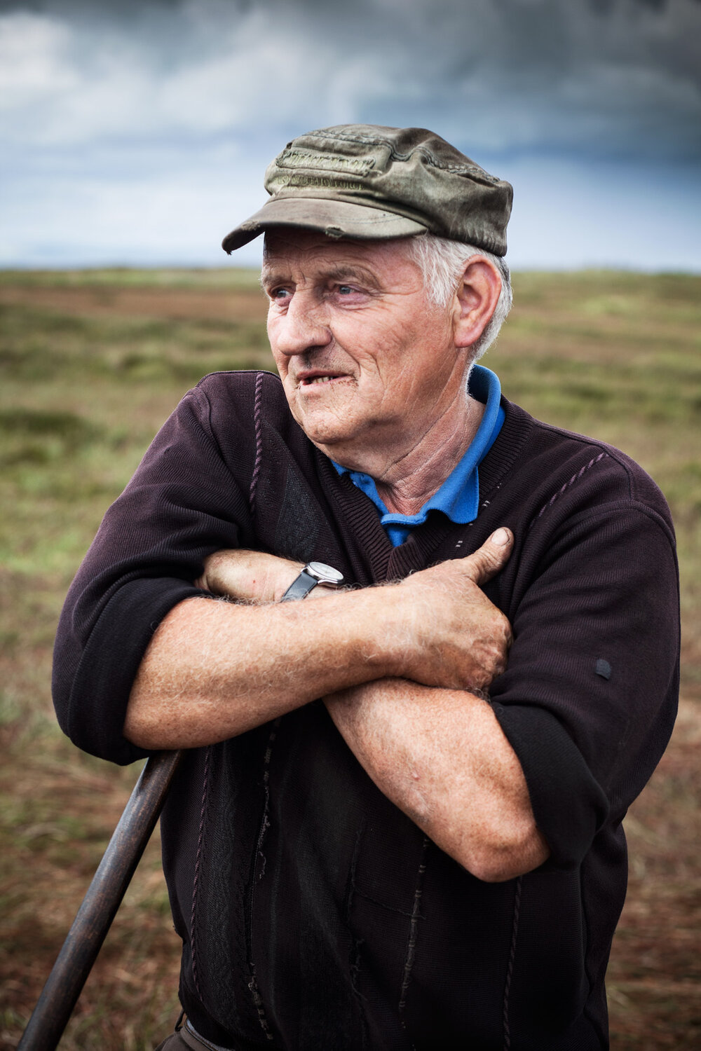 Gene has spent a lifetime of summers cutting, footing and bringing home the turf. Time on the bog from sunrise to sunset is his life for 3-4 months every year.
