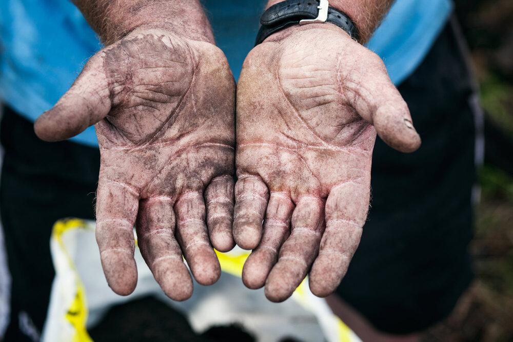 Turf hands.