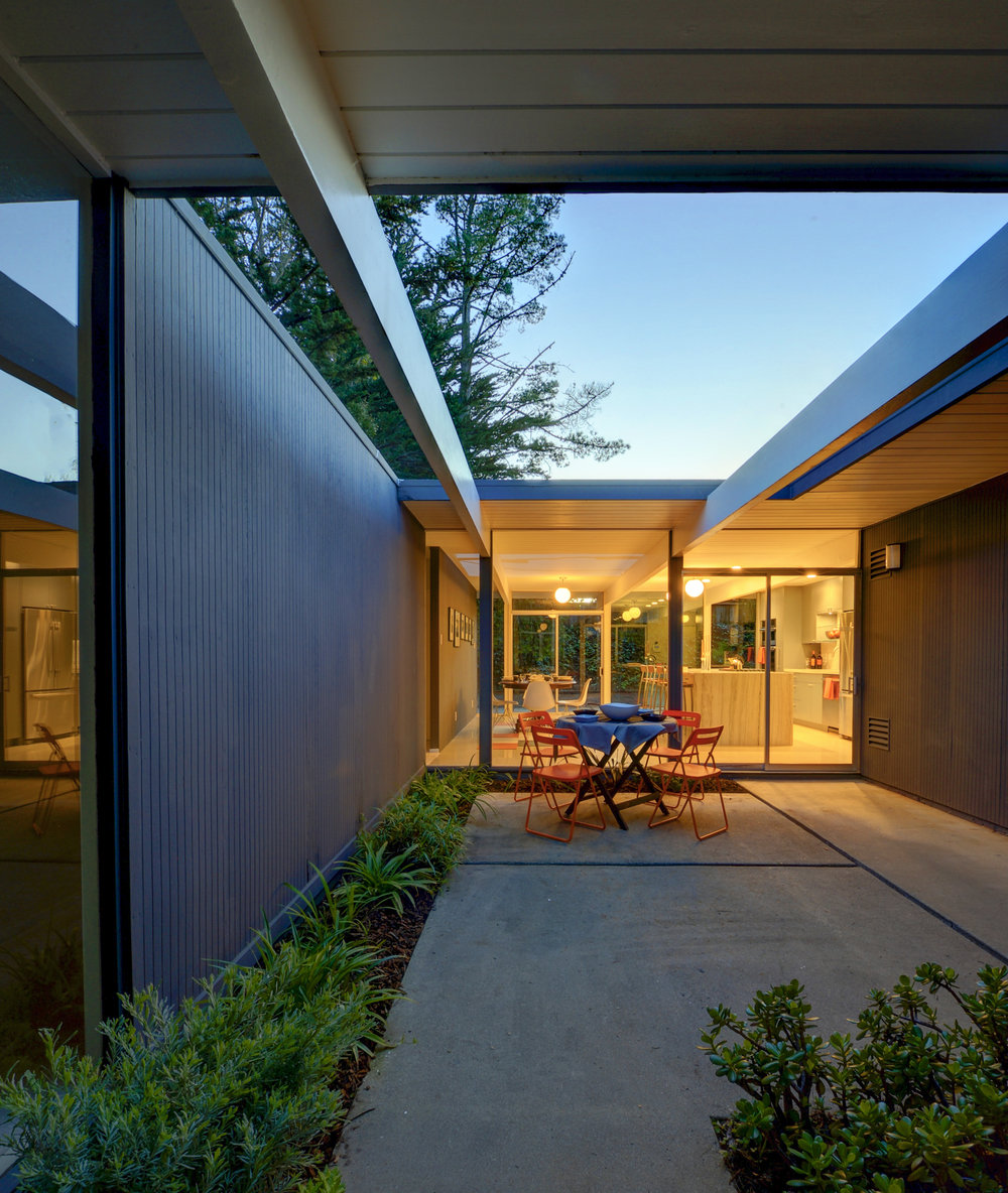 San Mateo Atrium Eichler kitchen remodel