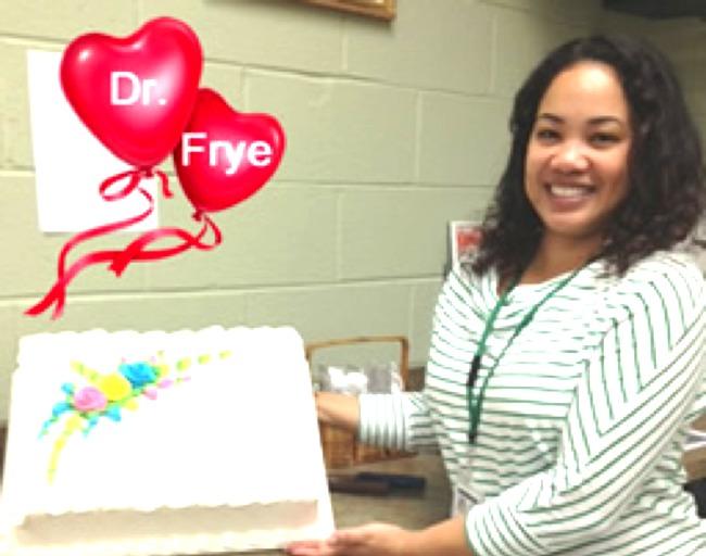 Congratulations, Dr. Frye!