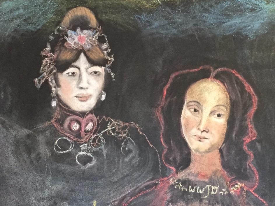 One of Katherine's pastel portraits.