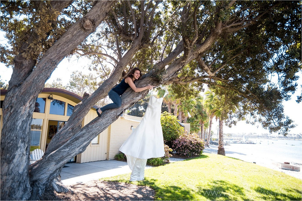 Here's that shot of my second shooter Kelsee that I was talking about!  She held on to the dress in the wind while I grabbed a couple shots of Megan's beautiful dress in San Diego.