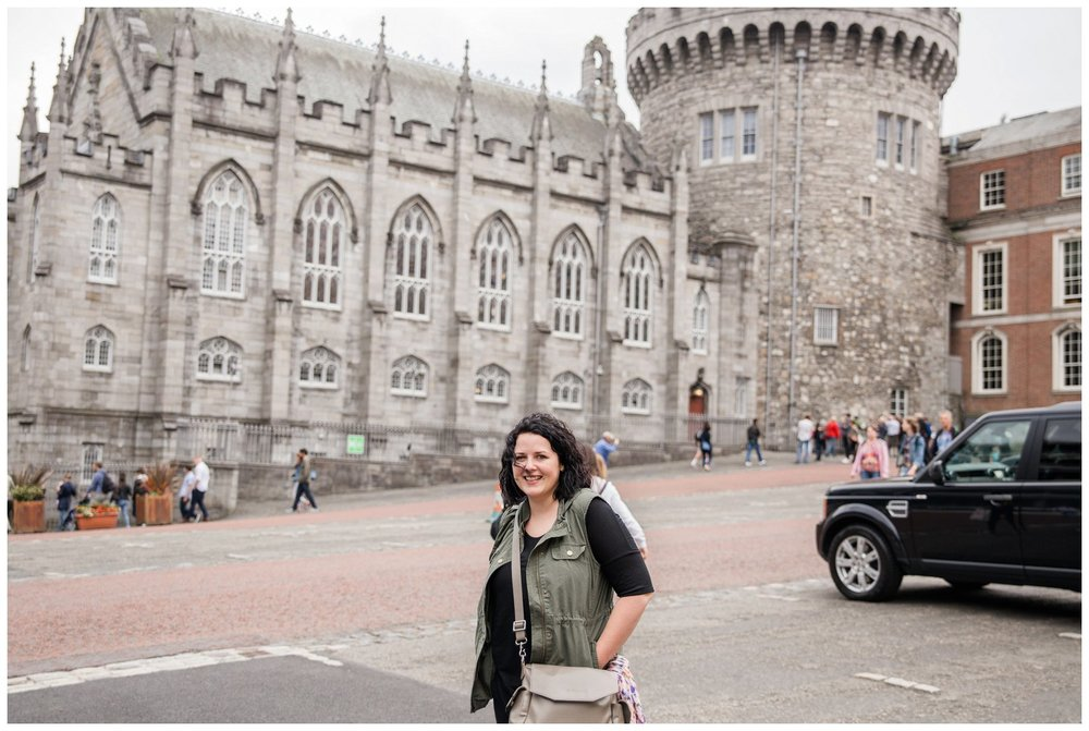 Jessica in front of Dublin Castle