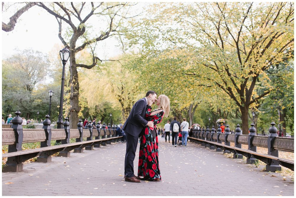 Jenna & Vince Engagement Session Central Park, NYC