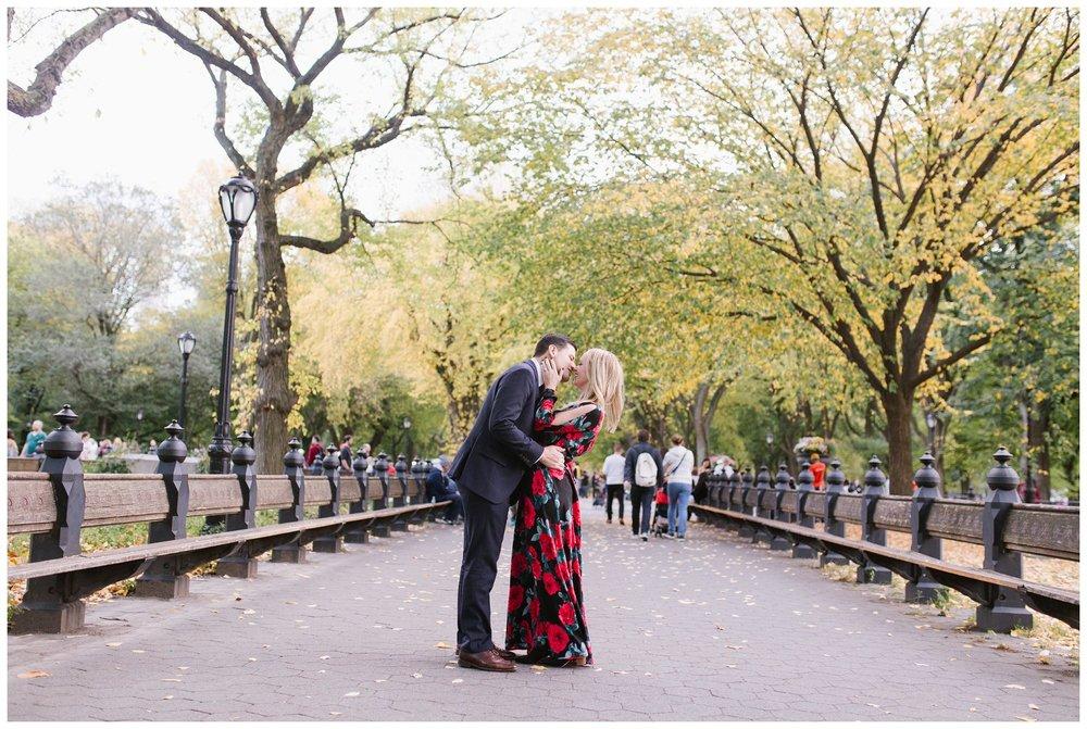 Jenna & Vince Engagement Session Central Park, NYC