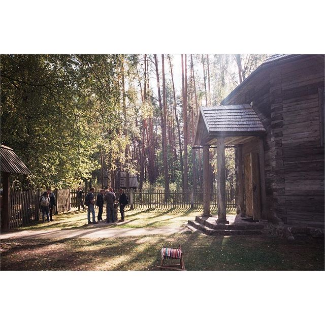 [Timber Framing and Log Cabin workshop in Ratnieki, Latvia.] ::: Outdoor cultural Museum. Near Riga. ::: #timberframe #northmen #latvia #logcabin #handtoolsonly #film #ricohgr1 #portra400 #filmisnotdead #filmphotography