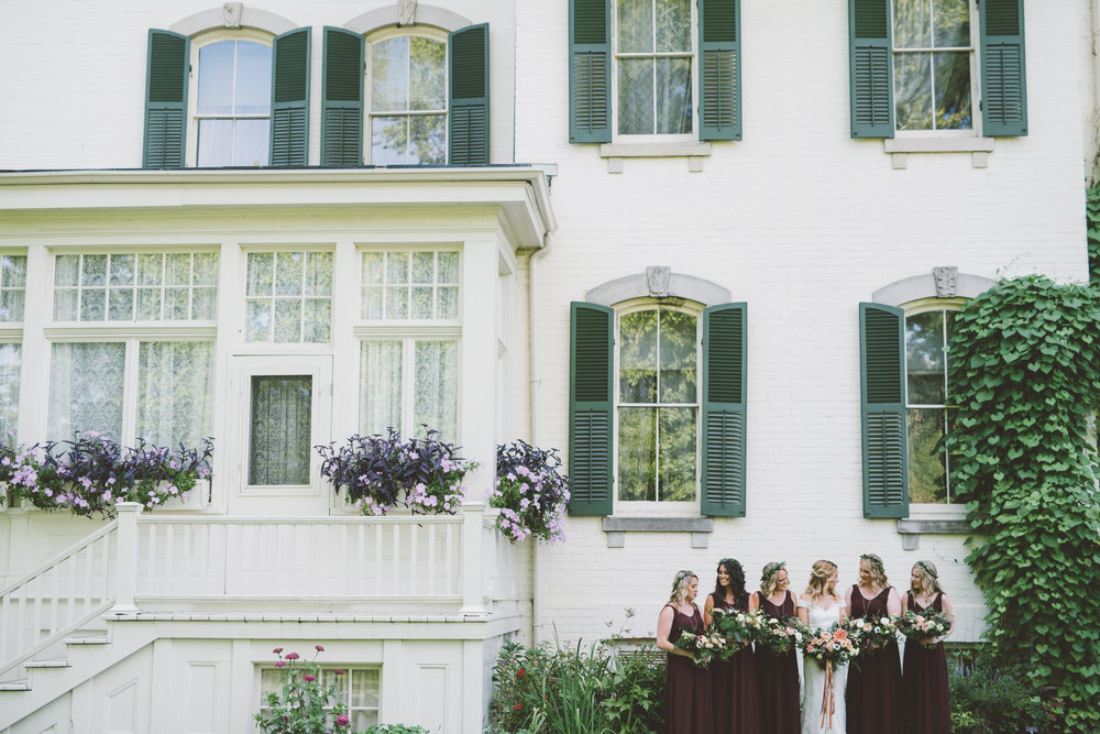 bridesmaids spadina house