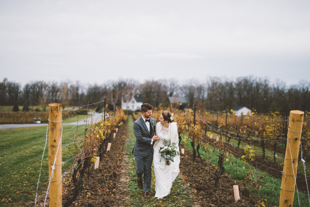 winter winery wedding