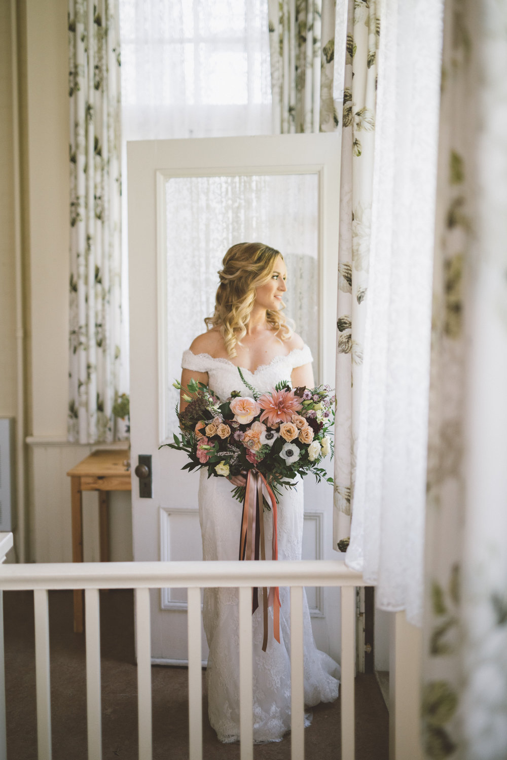 spadina house bridal portrait