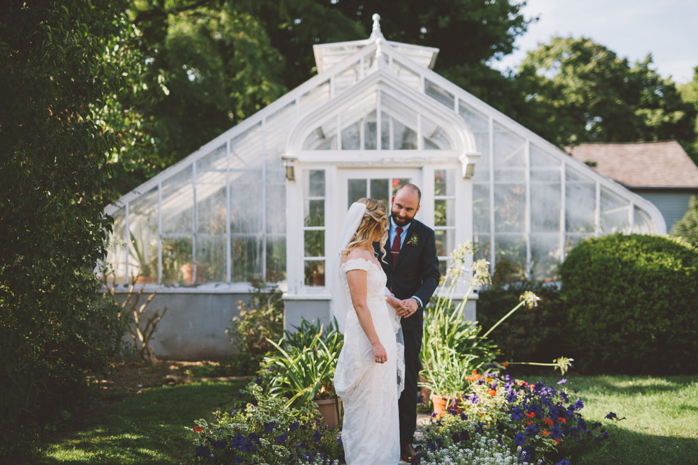 greenhouse wedding photo