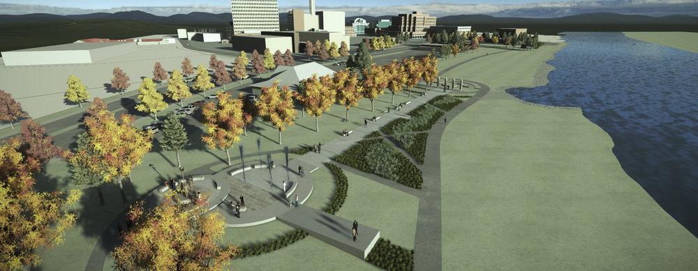 Honour Garden |RCMP monument conceptual plan, Moncton, NB