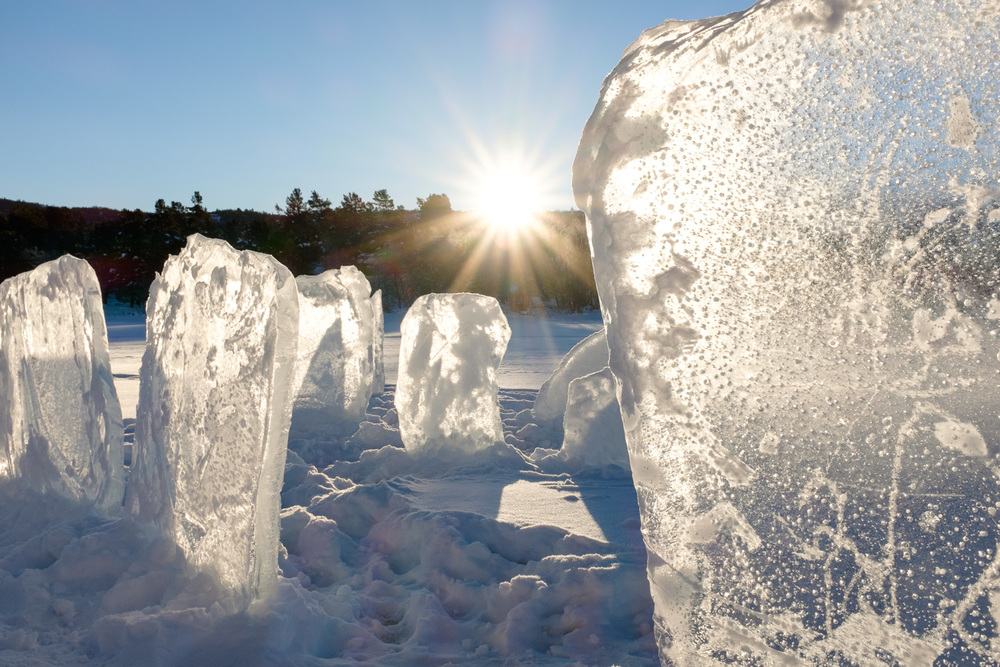A perfect -20ºc view of a mini ice 'henge' ❄️⛄️