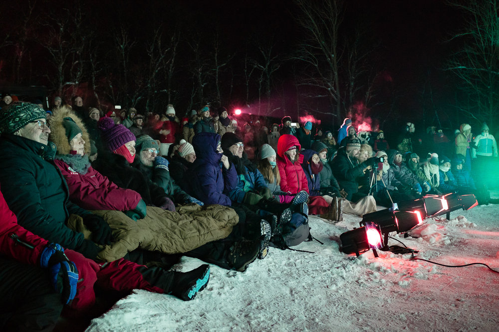 Still air, a full moon and -20ºc = a perfect Ice Music Festival. Photo:  Emile Holba