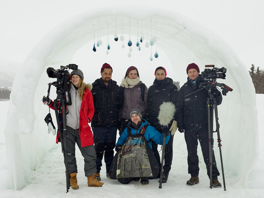 Here's the VICE News Team standing proud just after they had interviewed Terje Isungset. Photo:  Emile Holba