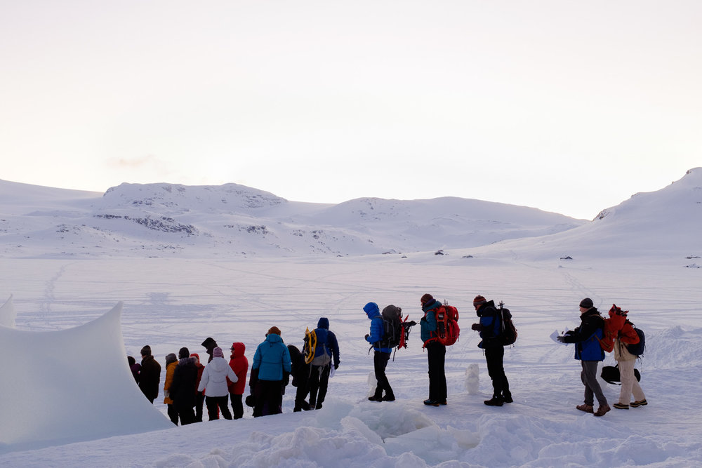 Is this the coldest music venue ticket line in the world? At -27ºc...we think so