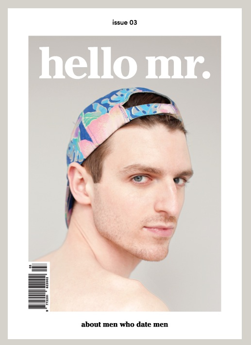 MILK aka Dan Donigan is the Coverboy for Hello Mr. Magazine