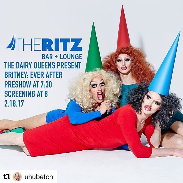 @britneyspears @lifetimetv movie screening with @thedairyqueens THIS SATURDAY at @ritznewyork! Performances, trivia, & prizes! Get your buzzers ready! 😜