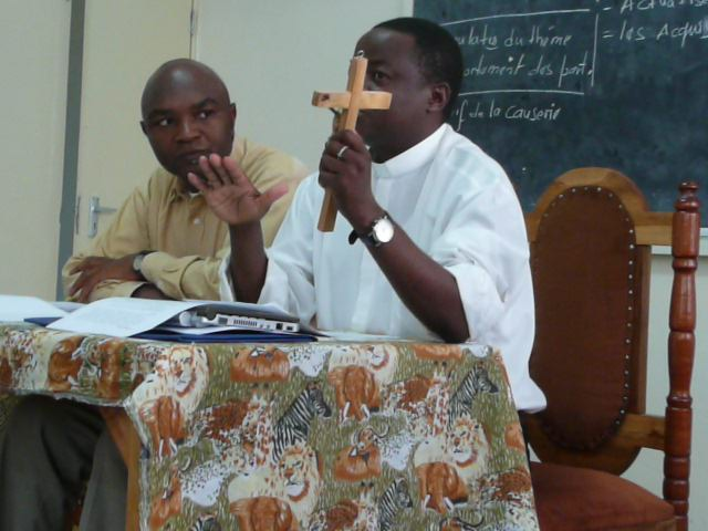 Fr. Phiri explaining the Love of Christ