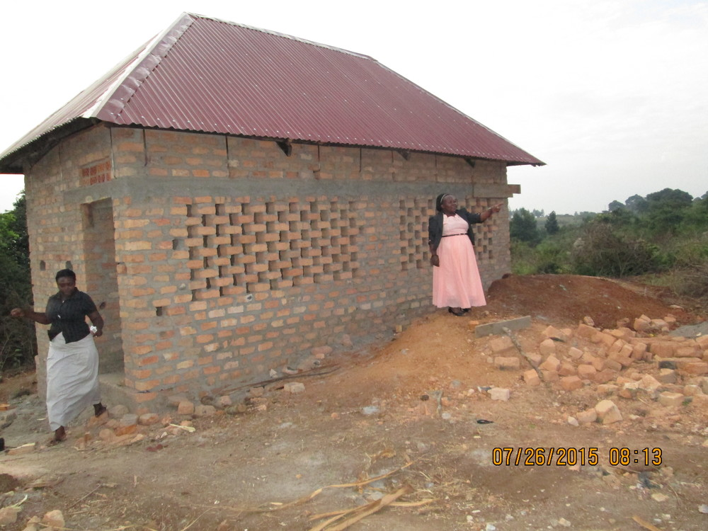 The first building is complete - Pit Latrine