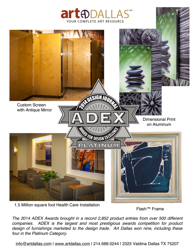 ADEX Award PLATINUM Tear Sheet