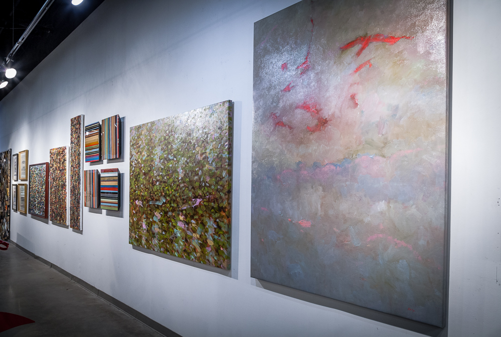 Featuring work by artist Robert Dye (right)
