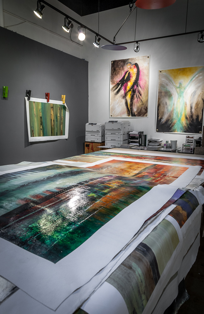 Art Dallas maintains a large inventory of un-stretched artwork suitable for a range of projects.