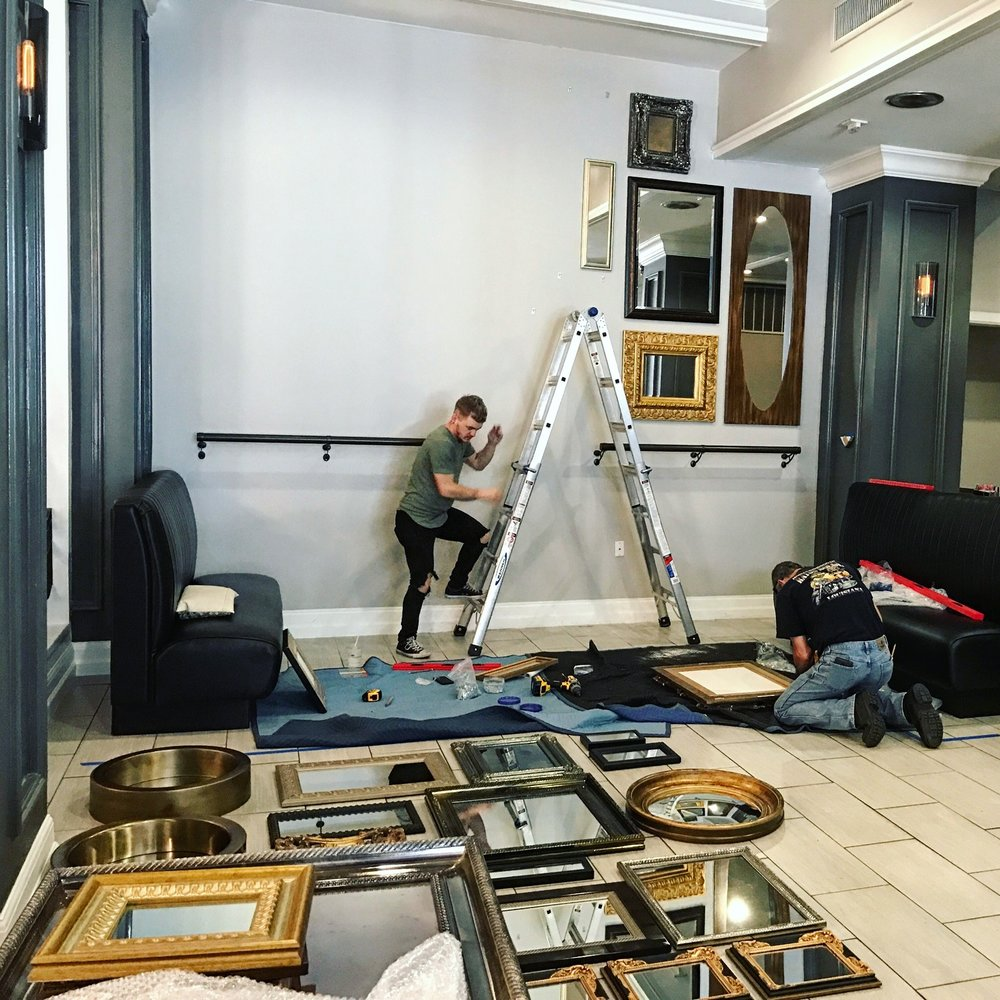 Art Dallas inc Installation team on location.