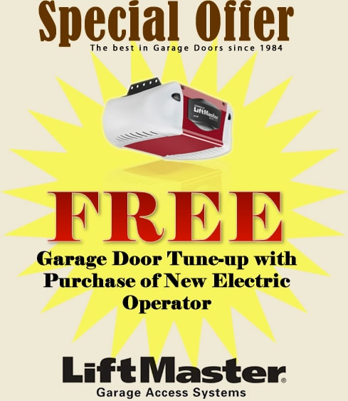 Call today and mention this special and receive a free tune-up with all new or replacement operator installs.