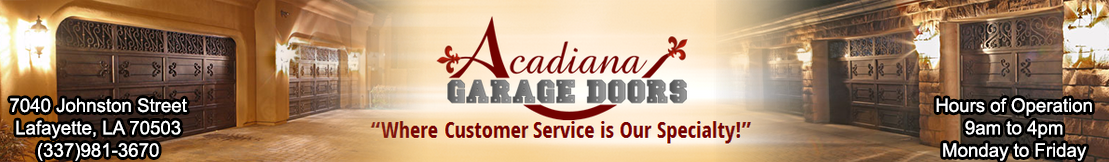 Acadiana Garage Doors of Lafayette Home Page