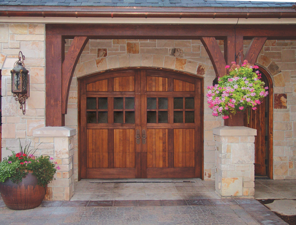 Wood Carriage Garage Door