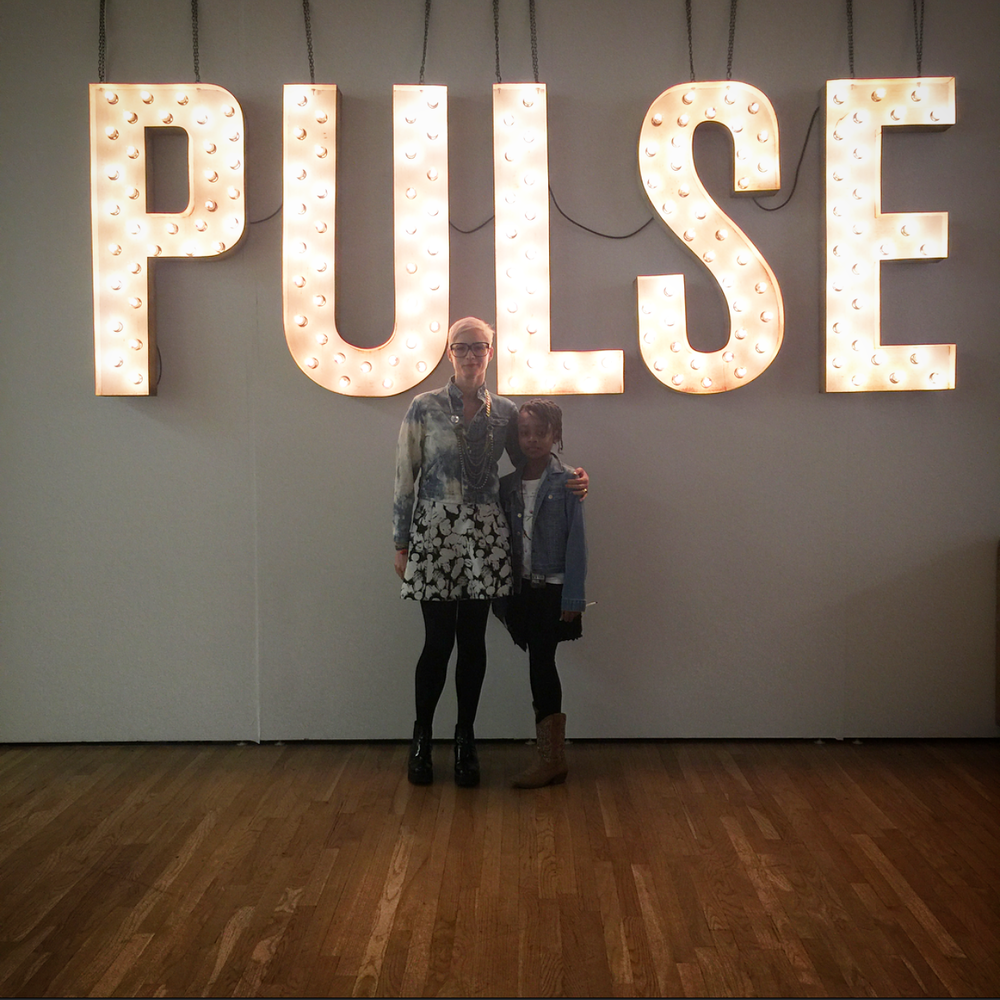 Pulse Art Fair Director, Helen Toomer and Mini Curator, Maya Evans.
