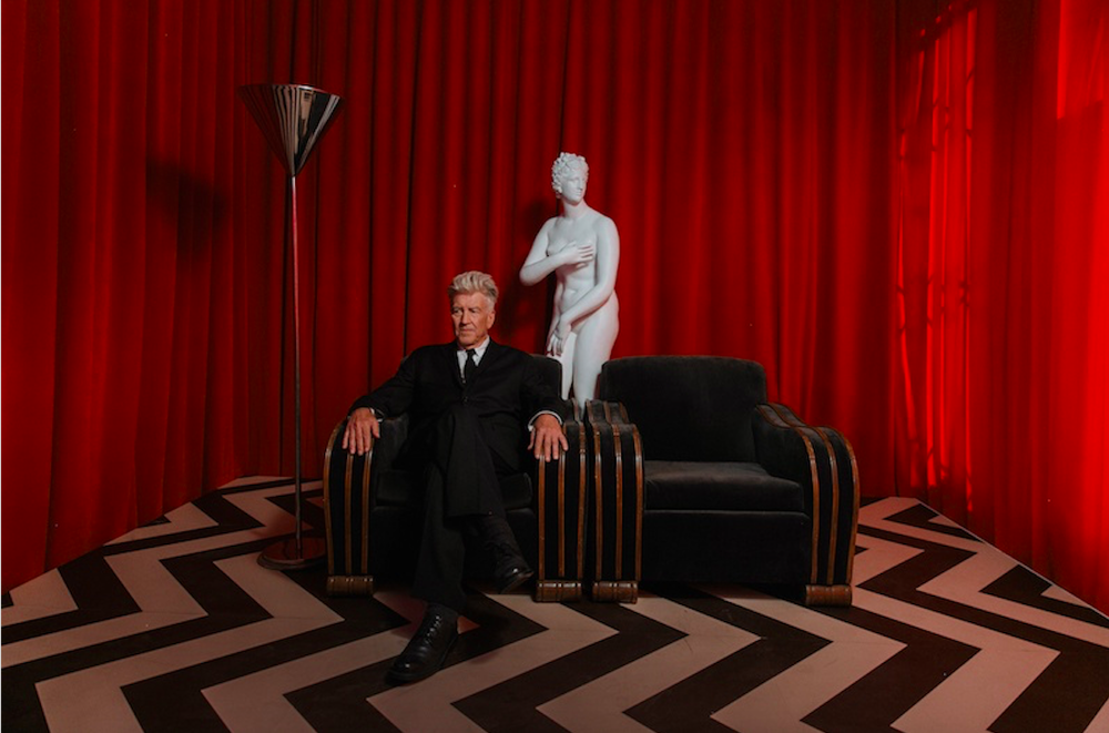 Charria recreating David Lynch's Red Room in collaboration with Polaroid Originals.  Photo by  Yeah Field Trip  / Jacob Boll