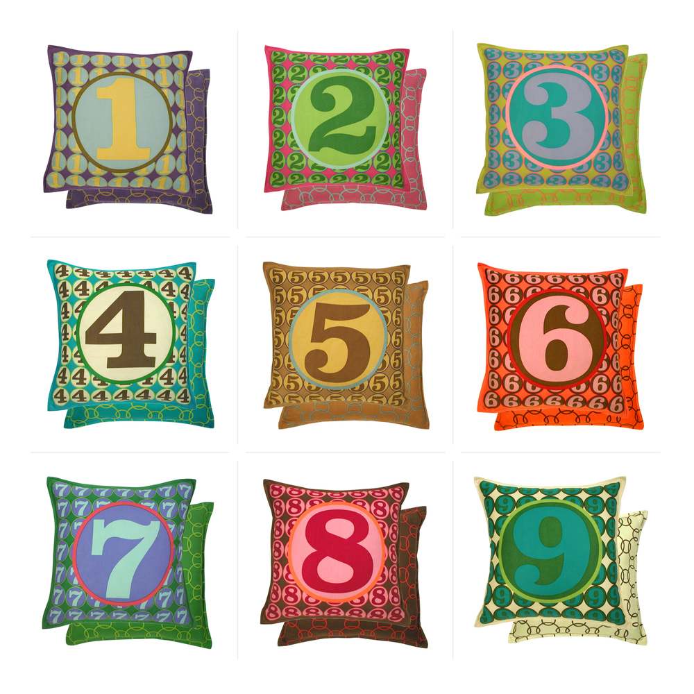homenture inc. pillow line - no.s 1 - 9