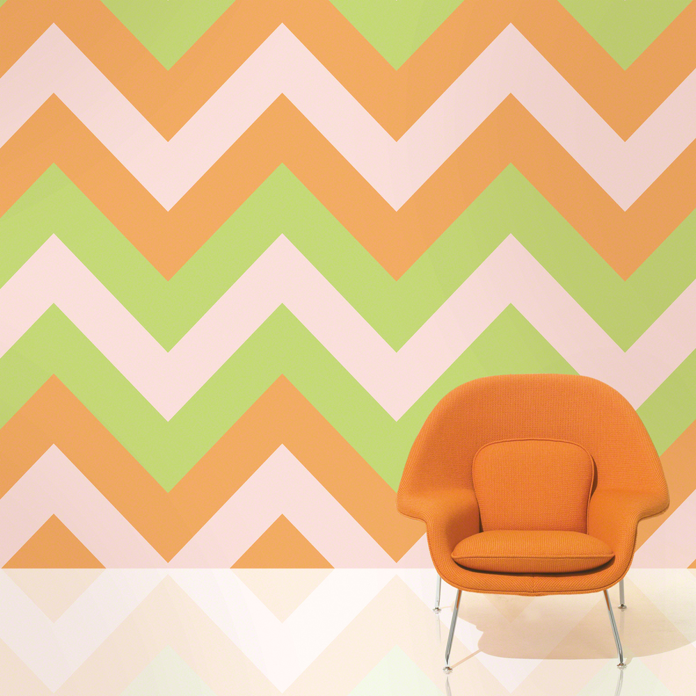 wallcandy arts peel and stick wallpaper - chevron margarita