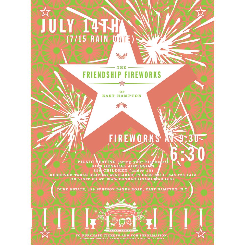 fundacion amistad - friendship fireworks poster