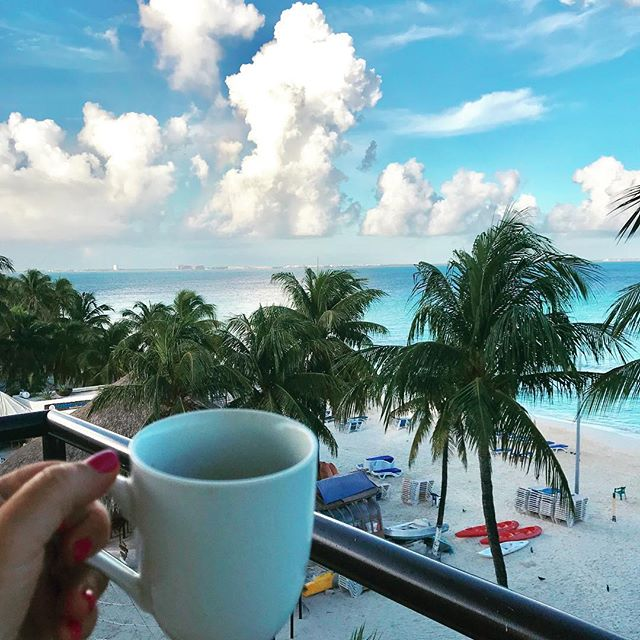 This place has always had my heart ❤️ 🏝. Every sunset is so gorgeous and every sunrise 🌅 is just breathtaking. I don't know which is better. I love starting my mornings here on Playa Norte with a good cup of coffee and an incredible view. #vacationmode #travelholic #couplegoals #travelcouple #bestbeach #coffeeandaview