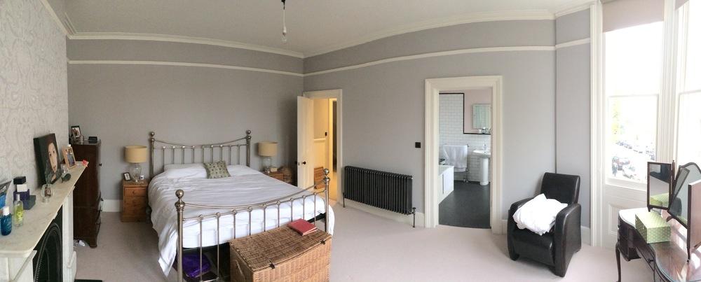 View of master bedroom with new en suite.