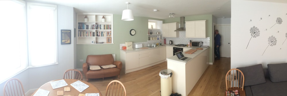 View of reconfigured basement flat.