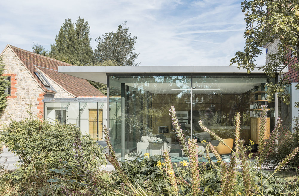 High Crouch Whole house refurbishment and contemporary extension to Grade II listed historic home.