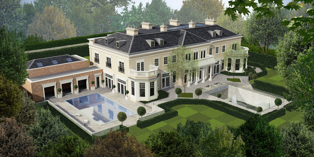 Rivenhall, Holwood Park Avenue, Kesterton Park. Classically styled Neo Palladian Mansion of over 17,500 sq. ft.