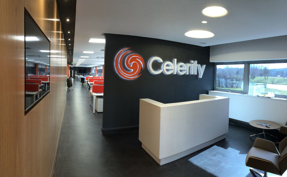 Celerity, Dartford. Refurbishment of Celerity head office.