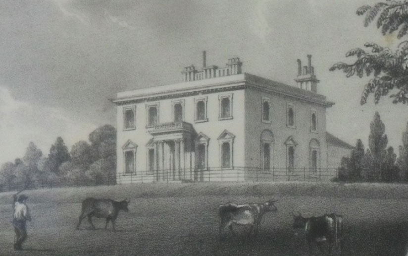 Engraving of Broughton House, 1838
