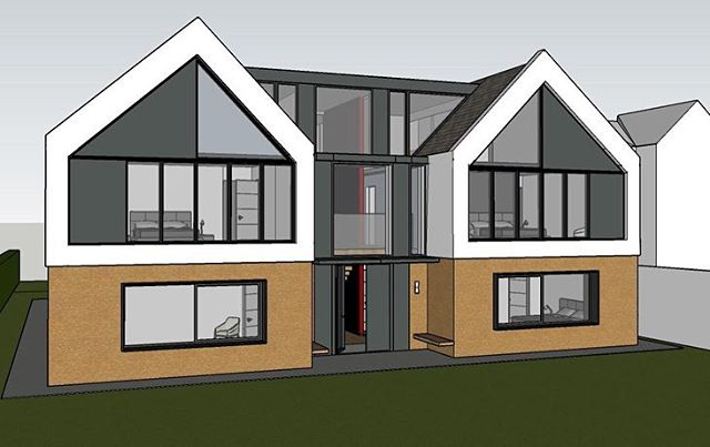 Congratulations to Dalila from @architectsavuk for approval of new build contemporary house from Bromley Council last night. #architects #uk #kent #bromley